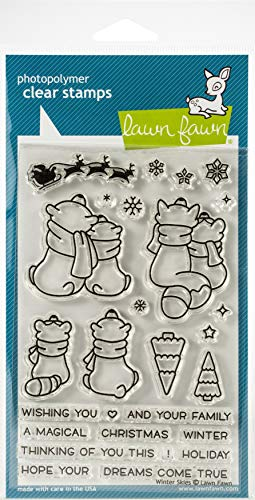 Lawn Fawn Clear Stamps - Winter Skies