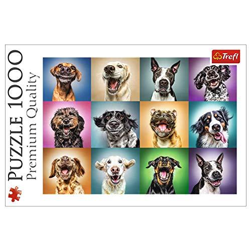 Trefl, Puzzle, Lustige Hundeporträts, 1000 Teile, Premium Quality, für Kinder ab 12 Jahren