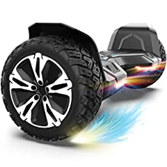 SUPER STURDY & DURABLE – The Warrior 8.5 inch Off Road Hoverboard is made from a perfect combination of UL approved materials which make up its sturdy structure that guarantees durability while keeping you safe during rides and allowing you enjoy thi...