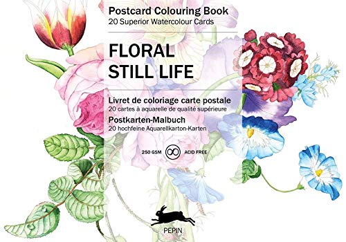 Still Life Flowers: Postcard Colouring Book (Multilingual Edition)