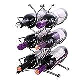 Koziol set-up estante portabidones vino estante estante para botellas negro