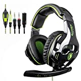Auriculares para juegos SADES SA810 con micrófono para Xbox One, PS4, PC, Mac, smartphone, iPhone y iPad, color verde