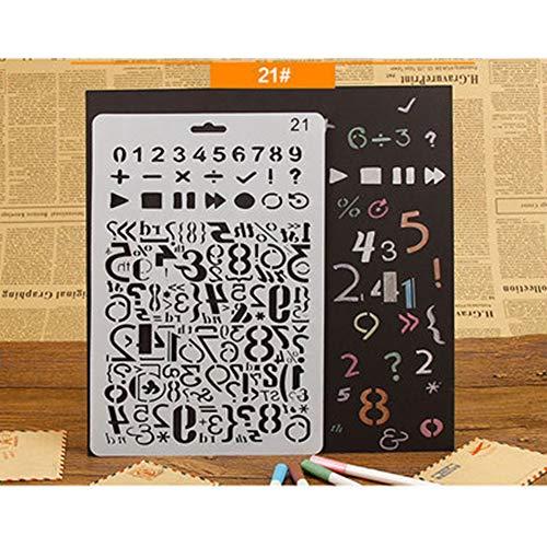 FairOnly Kinder Malvorlage Lineal DIY Zeichnung Schablone Craft Tool Cartoon Hohl Blume Teller Kinder Geschenk für Studenten Büro Supplies B-21