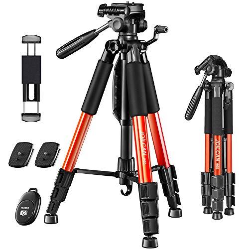 "JOILCAN 65""Camera Tripod for Canon Nikon Lightweight Aluminum Travel DSLR Camera Stand 11 lbs Load..."