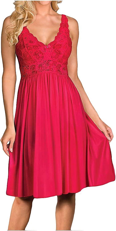 Shadowline Women's Plus-Size Silhouette Lace Bodice Sleeveless Waltz Gown