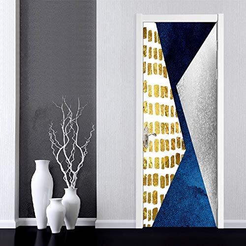 DFKJ Arte Autoadhesivo Flores Hermosa calcomanía Etiqueta de la Puerta del hogar Decoración Renovación Papel Tapiz Imprimir Imagen para Sala de Estar A7 77x200cm
