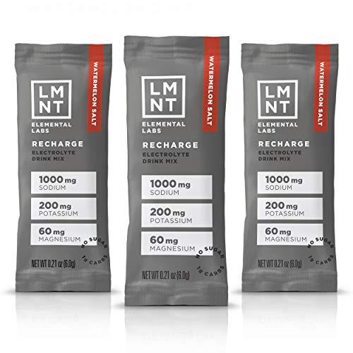 LMNT Keto Electrolyte Drink Mix | Paleo Hydration Powder | No Sugar, No Artificial Ingredients | Watermelon Salt | 30 Stick Packs