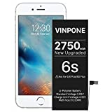 [2750mAh] Battery for iPhone 6S Upgraded High Capacity Replacement Battery for iPhone 6S A1633 A1688 A1700 [Not for 6] -24 Months Service