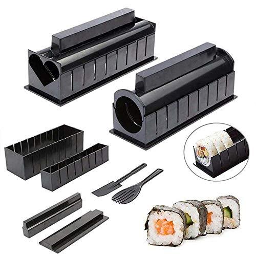 WHK Sushi Making Kit, Reisrolle Form DIY Sushi Set Machen Sie Ihr eigenes Sushi zu Hause