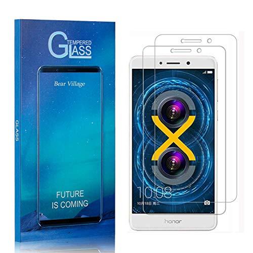 Bear Village® 3D Touch Verre Trempé pour Huawei Honor 6X, Anti Rayures Film Protection Écran Vitre, Dureté 9H Protection en Verre Trempé Écran pour Huawei Honor 6X, 2 Pièces