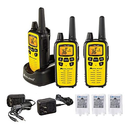 Midland 36 Channel FRS Two-Way Radio - Long Range Walkie Talkie, 121 Privacy Codes, NOAA Weather Scan + Alert (Yellow… 3