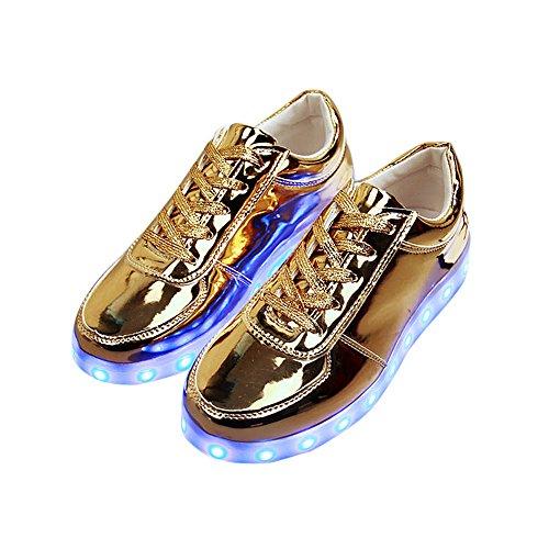 Ncenglings Damen Sneakers Mode Licht Wild Flach Schuhe Bequem Turnschuhe Leichte Atmungsaktiv Sportschuh Lace-Up Laufschuhe Walking Outdoor Shoes LED-Licht USB Bunte Modelle Auflädt Studentenschuhe