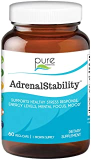 Pure Essence Labs - Natural Adrenal Health Support Supplement for Fatigue,Stress, Anxiety Relief, Improved ...