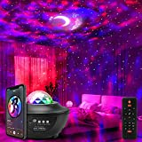 Galaxy Projector Lights Starry Night Light Moon Star Nebula Wave Projector with Music Bluetooth Speaker RGB Color Changing Remote&Voice Control Party Light for Kids Adults Bedroom Home Decor