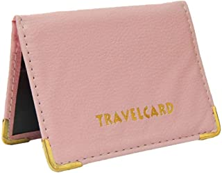 Soft Leather Travel Card Bus Pass Credit Card ID Card Wallet Cover Case Holder by Kwik Buy (Baby Pink)