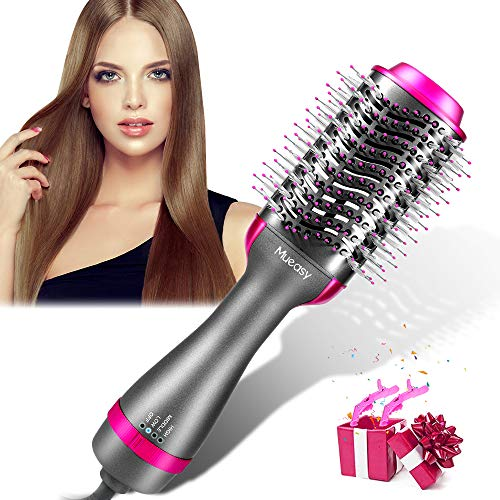 Hair Dryer Brush Blow Dryer Brush Mueasy Upgrade 5 in 1 Hot Air Brush One  Step Hair Dryer amp Styler Volumizer with AntiScald Negative Ion for Fast Drying,Straightening Curling US Plug