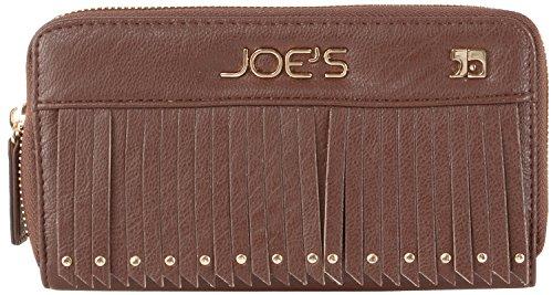 Joe's Jeans Bronco Zip Around Wallet With Tassles - Brown
