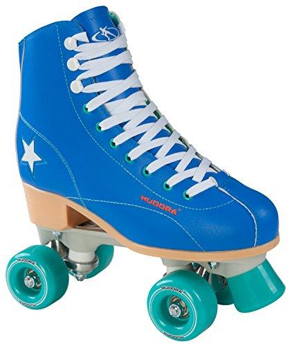 Hudora Disco Rollerskates Unisex Rollschuh, Blau/Grün, 35, 13191