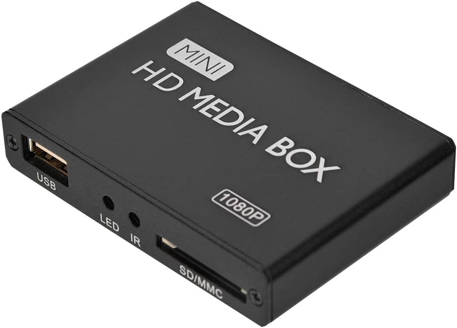 Tgoon 1080P Mini HD Player, Aluminum Metal MP3, OGG, WMA, APE. Ass, Ssa, Sub Plug and Play Player for Video HD Playback