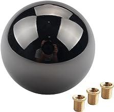 DEWHEL JDM Gun-Black Nickel Round Shift Knob for Both Manual or Automatic Fit Acura Honda..