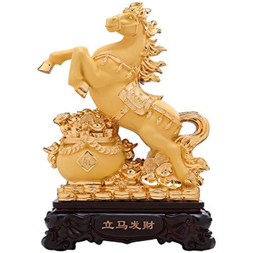 AUKLM Fortune lucky Feng Shui dierenriem paard dier beeld sculptuur, kantoor ambachten meubels thuis wijnkast decoraties paard ornamenten, 31 * 17 * 42cm