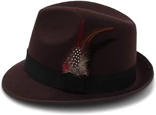 HongJie Hou Jazz Fedoras For Women Vintage Wide Brim Fedora Hat Floppy Cloche Men Gangster Hat Chapeu Casual Solid Pink Red Bones