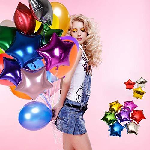 12 x Hélium Feuille Latex Party Foil Balloon Weights-Argent