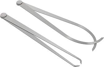 Scicalife 2St Inuti Utanför Caliper Set Stål Mätning Calipers Rak Ben Keramiska Keramik Mätverktyg För Snidning Formning L...