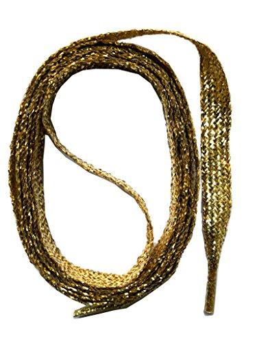 SNORS flache Schnürsenkel GOLD 145cm, 11-12mm breit, reißfest, Polyester, Made in Germany für Chucks Sneaker Stiefel Boots - ÖkoTex