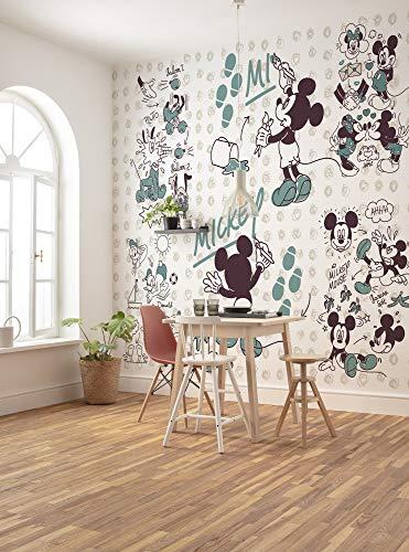 Komar Disney Vlies Fototapete Mickey and Friends | Größe: 250 x 280 cm (Breite x Höhe), Bahnbreite 50 cm | Tapete, Wandbild, Dekoration, Wandbelag, Kinderzimmer, Schlafzimmer | DX7-026, bunt
