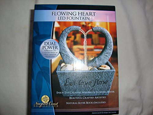 Newport Coast Flowing Heart LED Fountain Indoor Water Feature