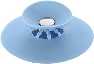 Lasamot – Tampa de banheira de silicone portátil para drenagem de pia, apanhador de cabelo, filtro de água em T para cozin...