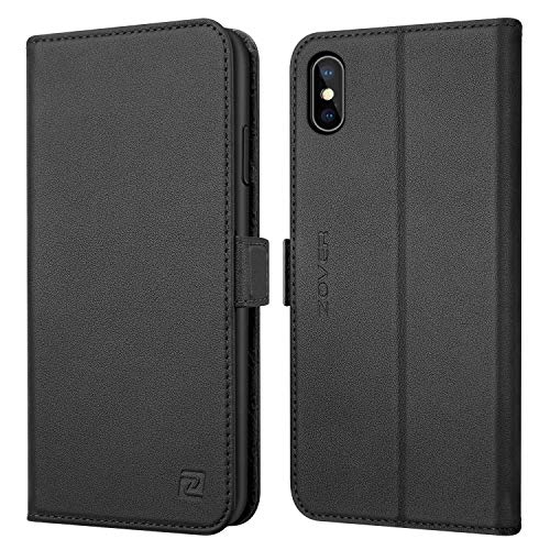 ZOVER iPhone Xs/X Case Genuine Leather Wallet Case ...