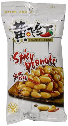 Huang Fei Hong Spicy Crispy Peanut, 3.38 Ounce (Pack of 4)