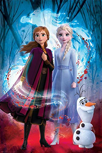 1art1 Frozen, Il Regno di Ghiaccio - 2, Guiding Spirit Poster Stampa (91 x 61cm)