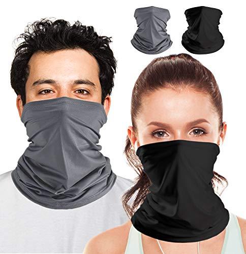 Bandana Mundschutz, Multifunktionstuch Snoods für Herren, Atmungsaktiver Schal Gesichtsmaske Halstuch, UV-Schutz Sturmhaube Gesichtsmaske Bandana Stirnband für Damen, Waschbare Gesichtsbedeckung