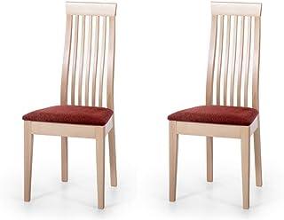 Alkove - Hayes - Set de 2 sillas de madera maciza con