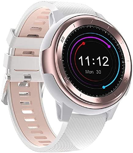 TCHENG Reloj Deportivo de Pulsera Inteligente, Prueba de Salud, podómetro Impermeable multifunción, Reloj de Ancianos electrónicos, Unisex, Adecuado para Android iOS System-Black (Color : Pink)