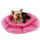 DIANSHENG Lotus Nest Teddy Bear Dog Productos para Mascotas Cat Nest Four Seasons Colchón para Perro Los 62 * 8cm/Rojo