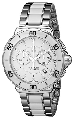 Orologio Donna Quarzo TAG Heuer display Cronografo cinturino Acciaio inossidabile Argento e quadrante Argento CAH1211.BA0863