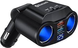 Greatly Store 5V 4.8A Car Charger Dual USB Universal LED Charging ABS Cars Socket 12V-24V Bluetooth Cigarette Lighter USB ...