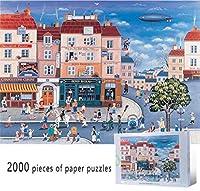 パズルジグソー大人と子供 漫画のアニメシーンのメインストリート2000ピースジグソーパズルペーパー大人のためのキッズアートパズル教育玩具ゲームの壁の家の装飾 家庭用ゲーム