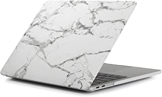 Miss flora MAC accessories .White Black Texture Marble Pattern Laptop Water Decals PC Protective Case for MacBook Pro 15.4 inch A1990 (2018)