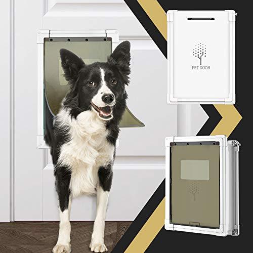 Dog Door,Pet Door for Dogs and Cats,Medium Doggie Door for Exterior Doors,Plastic Freedom Pet Doors...