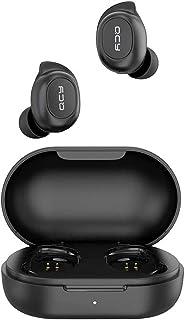 QCY Audifonos Inalambricos Bluetooth, Wireless Earbuds, T9 Bluetooth 5.0 con Funda de Carga, Auriculares con Micrófono, Color Negro