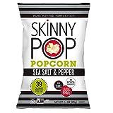 SkinnyPop Sea Salt & Pepper Popcorn, Individual Bags, Gluten Free Popcorn, Non-GMO, 4.4oz (Pack of 12)