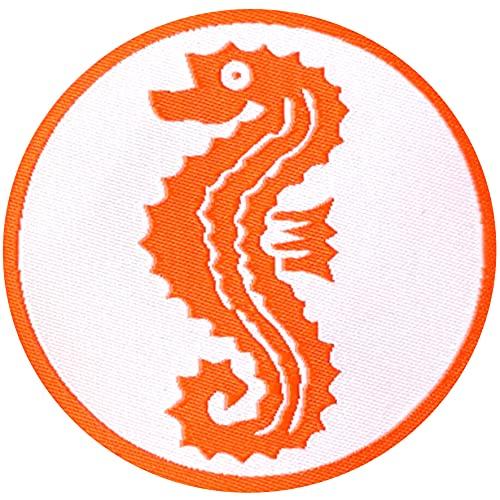 Seepferdchen Abzeichen aufbügeln für Kinder Patch Schwimm Schwimmabzeichen Frühschwimmer Schwimmerabzeichen Aufnäher zum bügeln für Handtuch Schwimmhose Badeanzug Aufbügler Bügelbild rund ca.6cm