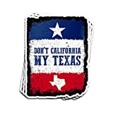 Hanabi 3 PCs Stickers Don't California My Texas Vintage 4 × 3 Inch Die-Cut Wall Decals for Laptop Window