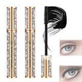 (2pcs)4D Flash-Diamond Waterproof Silk Fiber Thick Lengthening Mascara, Clump-Free, Long-Lasting, Adds Length,Depth and Glamour Effortlessly,Voluminous Eyelashes