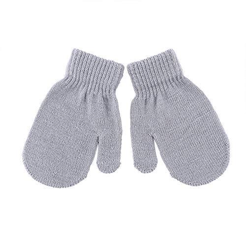 Cute Kid Mittens Children Winter Knitted Gloves For Boys Girl Dot Star...